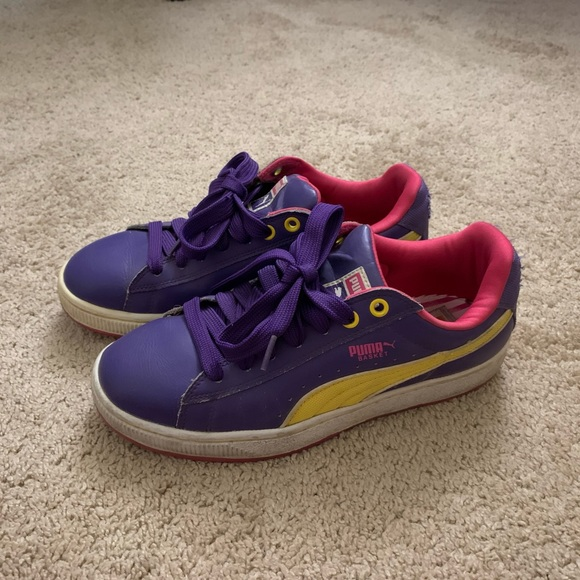 Puma Shoes | Purple Leather Sneakers
